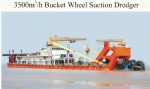 3500cbm/h Bucket wheel Suction Dredger